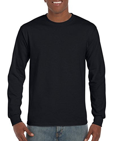 Gildan Ultra Cotton Adult Long Sleeve T-Shirt -Black, X-Large