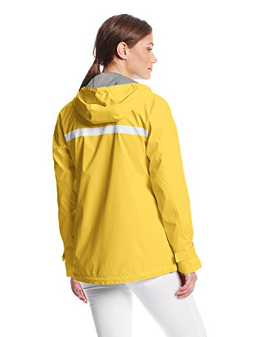 Charles River Apparel Women's New Englander Waterproof Rain Jacket, Buttercup Reflective, Medium