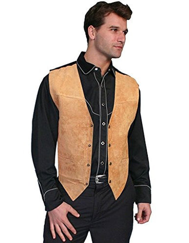 Scully Men's Suede Leather Vest Brown 3X