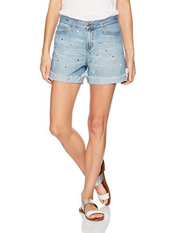 Big Star Women's High Rise Boyfriend Short, Juno, 29