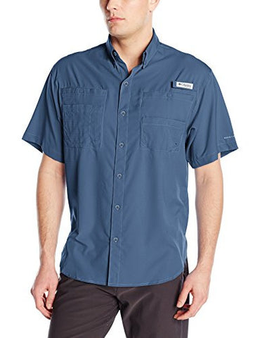 Columbia Men's Tamiami Ii Short Sleeve Shirt, Dark Mountain, X-Small