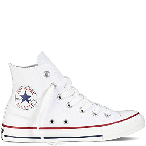 Converse Mens Chuck Taylor All Star High Top, 13 Men 15 Women, Optical White