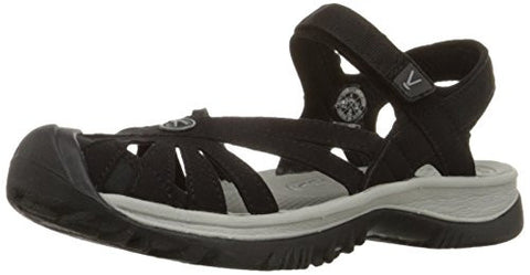 KEEN Women's Rose Sandal,Black/Neutral Gray,7 M US
