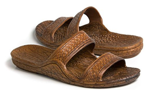 Pali Hawaii Adult Classic Jandals Sandals (9 D(M) US, Light Brown)