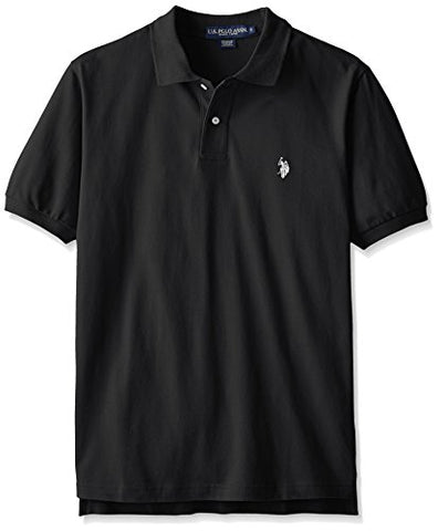 U.S. Polo Assn. Men's Classic Polo Shirt, Black/White, L