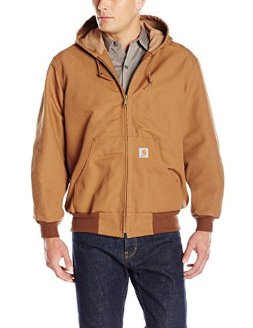 Carhartt Men's Thermal Lined Duck Active Jacket J131,Brown,Large