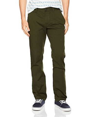 Volcom Men's Frickin Modern Stretch Chino, Dark Green, 34