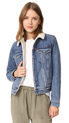 Levi's Women's Original Sherpa Trucker Jacket, Extremely Lovable, Small