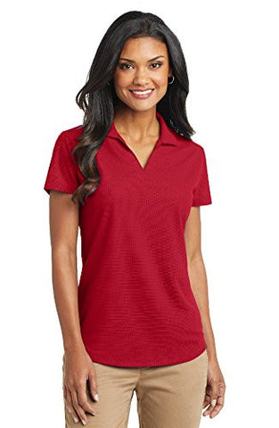 Port Authority Women's Dry Grid Polo, Large, Engine Red