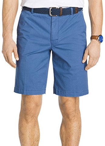 IZOD Men's Saltwater Flat Front Short, New Federal Blue, 42W