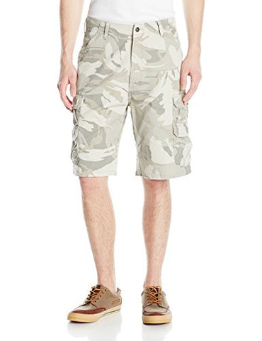 Wrangler Men's Authentics Men's Premium Cargo Short, Camo Putty, 30