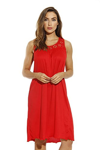 1541B-Red-L Just Love Nightgown / Women Sleepwear / Sleep Dress