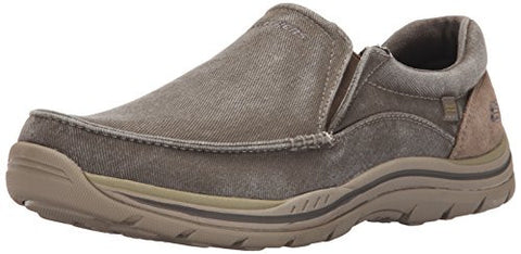 Skechers USA Men's Expected Avillo Slip-On Loafer, Khaki, 10.5 D US