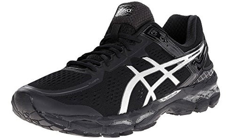 ASICS Men's Gel Kayano 22 Running Shoe, Onyx/Silver/Charcoal, 16 4E US