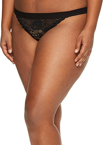 Cosabella Women's Plus Size Nsn G-String Ext, Black, 12/16