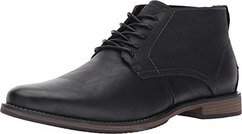 Steve Madden Men's Pieter Boot, Black Leather, 7 M US