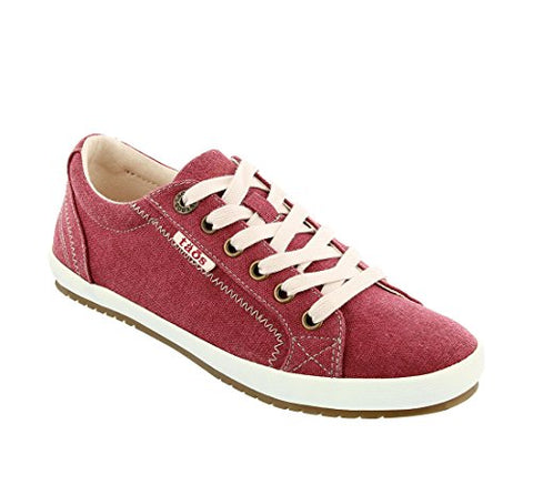 Taos Women's Star Ruby Red Washed Canvas Sneaker 8 B (M) US