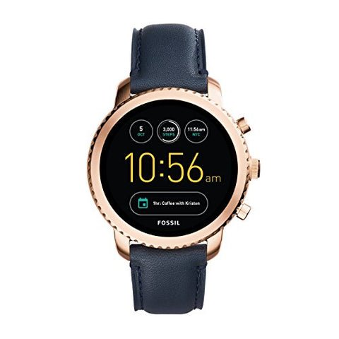 Fossil Gen 3 Smartwatch - Q Explorist Navy Leather  FTW4002
