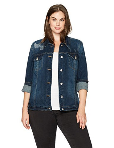 Bandolino Women's Plus Size Sarah Denim Jacket, Alturas, 1X