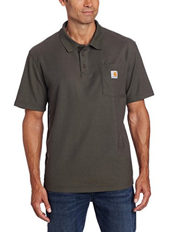 Carhartt Men's Contractors Work Pocket Polo Original Fit,Moss,X-Large