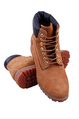 Timberland Men's 6 inch Premium Waterproof Boot,Wheat Nubuck,10.5 M US