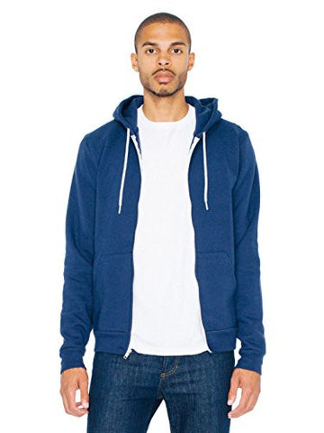 American Apparel  Unisex Flex Fleece Zip Hoodie, Navy, X-Large