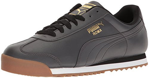 PUMA Men's Roma Basic Gld Fashion Sneaker, Asphalt-Asphalt, 9 M US