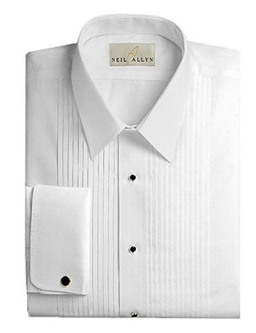 Neil Allyn Mens Tuxedo Shirt - 100% Cotton Laydown Collar - 17 - 34/35