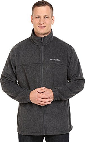 Columbia Men's Tall Steens Mountain Full Zip 2.0 Fleece Jacket, Charcoal Heather, X-Large/Tall