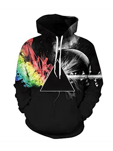 Sankill Unisex Realistic 3d Digital pullover sweatshirt Hoodie Hooded Sweatshirt S-3XL xxl/xxxl-black star