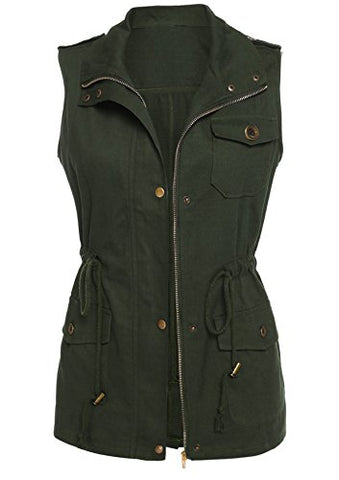 Beyove Womens Lightweight Sleeveless Military Anorak Vest
