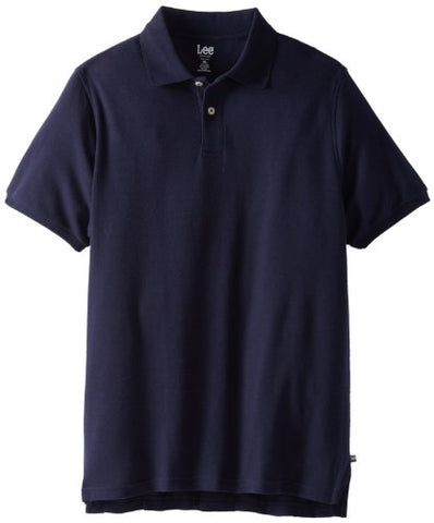 Lee Uniforms Modern Fit Short Sleeve Polo Shirt,Navy,3XL