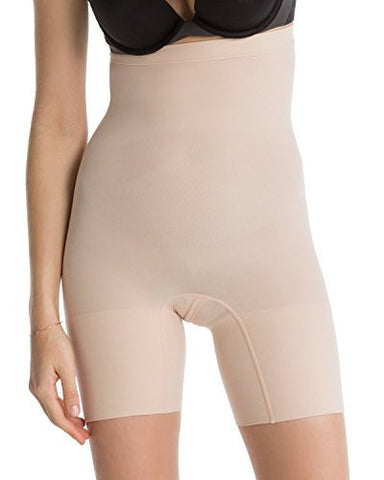 SPANX Women's Higher Power Shorts, Soft Nude, Medium