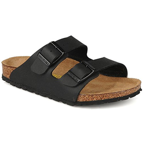 Birkenstock Women's Arizona 2-Strap Cork Footbed Sandal Black 40 M EU