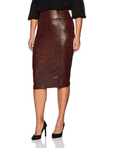 Melissa McCarthy Seven7 Women's Plus Size Pencil Skirt, Rum Raisin, 4X