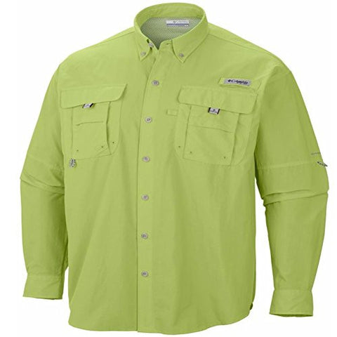 Columbia Men's PFG Bahama II Long Sleeve Shirt, Napa Green, S