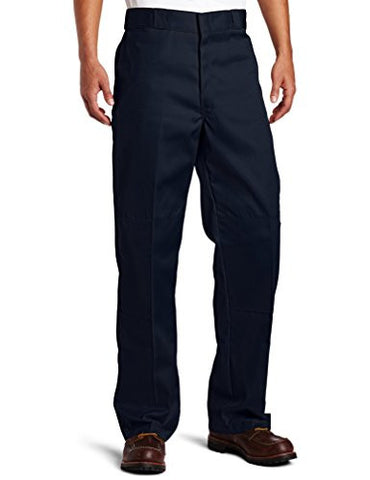 Dickies Men's Loose Fit Double Knee Twill Work Pant, Dark Navy, 42x30