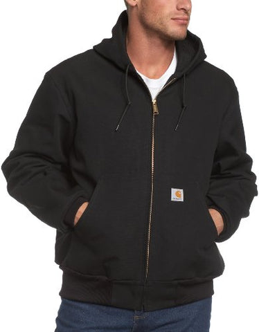 Carhartt Men's Big & Tall Thermal Lined Duck Active Jacket J131,Black,XXXX-Large Tall