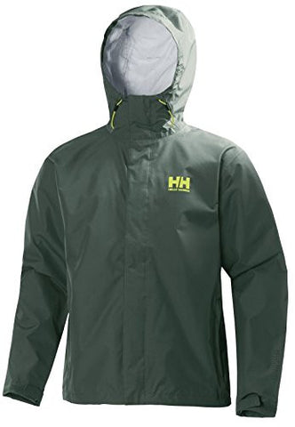 Helly Hansen Men's Seven J Rain Jacket, Medium, Jungle Green
