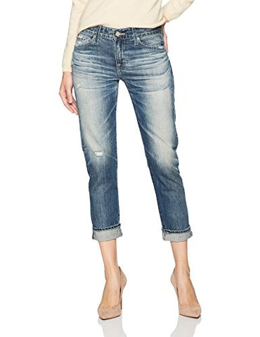 AG Adriano Goldschmied Women's the Ex-Boyfriend Slim Destructed Jean, 23 Years-Wind Worn, 25