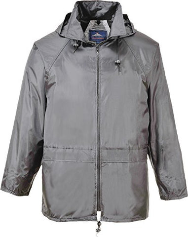 Portwest Men's Classic Rain Jacket (L, Grey)
