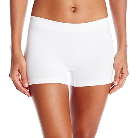 Maidenform Women's Pure Genius Tailored Boyshort Panty, White, 6