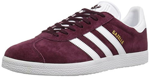 Adidas Originals Men's Gazelle Lace-up Sneaker,Maroon/White/Metallic/Gold,11 M US