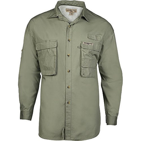Hook & Tackle Gulfstream Long Sleeve Shirt (Medium, Sage)