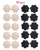 10 Pairs Womens Sexy Pasties Disposable Pasty Set Stain Nipple Cover Multi Design