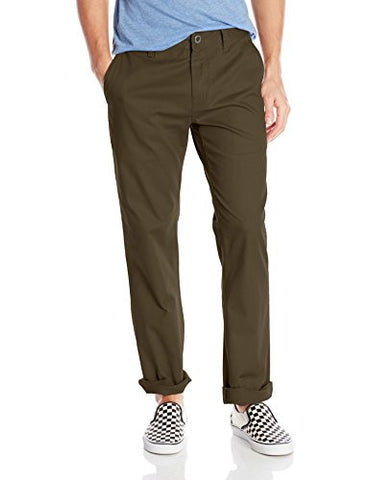 Volcom Men's Frickin Modern Fit Stretch Chino Pant, Dark Chocolate 2016, 36