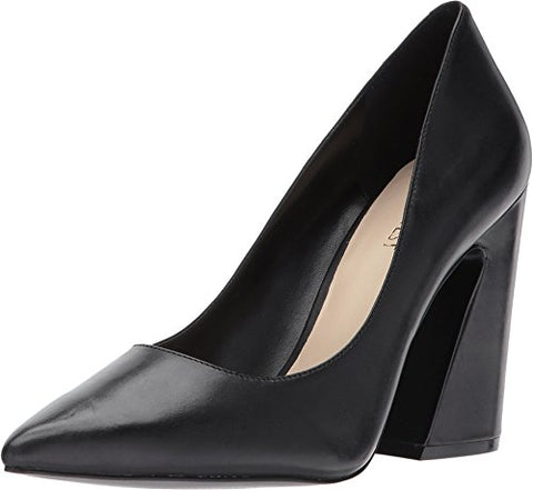 Nine West Women's Henra Leather Pump, Black Leather, 6 M US