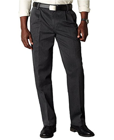 Dockers Men's Classic Fit Signature Khaki Pant - Pleated D3, Charcoal Heather (Cotton)-Discontinued, 38W x 32L