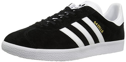 Adidas Originals Men's Gazelle Lace-up Sneaker,Black/White/Gold Met.,9 M US