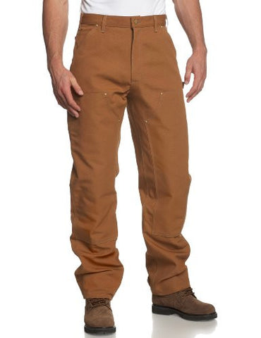 Carhartt Men's Double Front Duck Utility Work Dungaree B01,Carhartt Brown,34 x 30